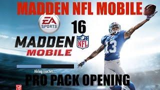 getlinkyoutube.com-Madden NFL Mobile 16- Pro Pack Opening-Starting off fresh!!!!