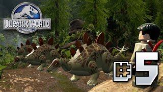 getlinkyoutube.com-Stegosaurusus!! Jurassic World LEGO Game - Ep5