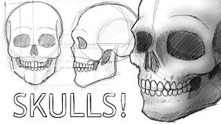 getlinkyoutube.com-How to Draw Skulls