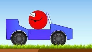 getlinkyoutube.com-КРАСНЫЙ ШАРИК спешит на паровозик Мультик мультфильм Игры для детей малышей Red Ball