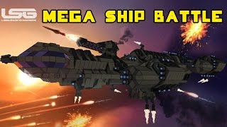 Space Engineers - Mega Ship Battle, Clash Of The Titans