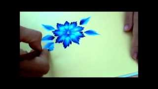getlinkyoutube.com-Corso one stroke. Tutorial tecnica one stroke painting