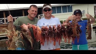getlinkyoutube.com-A day on the water! Lionfish, Lobster, Sailfish and lots of good memories!!!