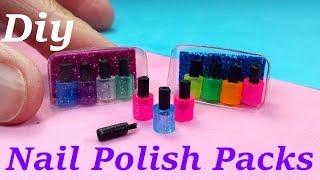 getlinkyoutube.com-DIY Miniature Nail Polish Packs With or W/out Brush!