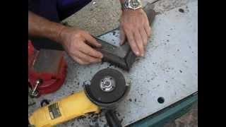 getlinkyoutube.com-Cómo cortar tubo redondo en inglete a 45º con amoladora o radial.