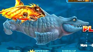 getlinkyoutube.com-Hungry Shark Evolution Mr Snappy with new Lava Baby