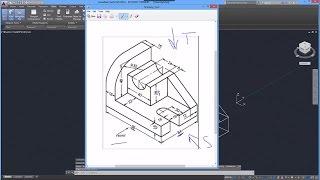 getlinkyoutube.com-Beginner Tutorial 4 - Autodesk AutoCad 2016 - Designing Isometric Objects