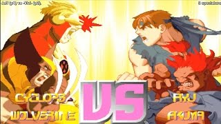 getlinkyoutube.com-X-Men vs. Street Fighter Online Match - Fightcade - Jeff (USA) vs. -Vivi- (USA)