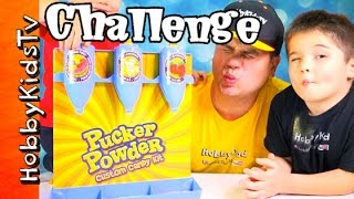 getlinkyoutube.com-Pucker Powder Custom Candy Kit HobbyKids + HobbyDad Challenge! by HobbyKidsTV