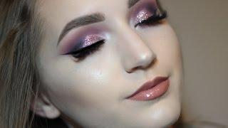 getlinkyoutube.com-PINK GLITTER GLAM // Cosmetics By Mackenzie