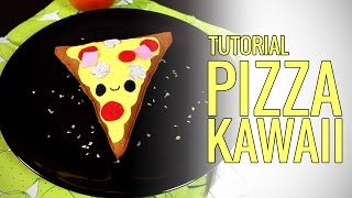 getlinkyoutube.com-Manualidades paso a paso: Cómo hacer un peluche pizza kawaii (manualidades sencillas con fieltro)