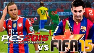 getlinkyoutube.com-FIFA 15 vs PES 2015 | Gameplay + Info