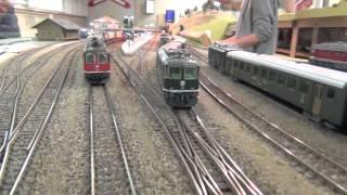 getlinkyoutube.com-Fernverkehrszüge 2.-Teil auf der Modelleisenbahn Anlage der Winterthurer Eisenbahn Amateure WEA
