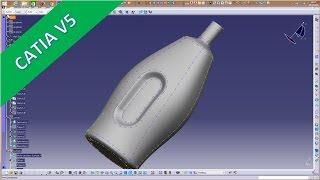 getlinkyoutube.com-Bottle - Catia v5 GSD Training - Blend - Multisection surface