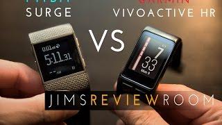 getlinkyoutube.com-Garmin VivoActive HR VS Fitbit Surge  - Comparison Video