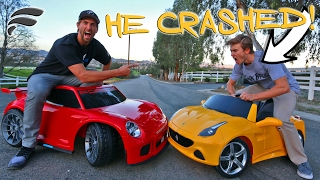 TOY SUPERCAR RACE *CAR FLIPPED*