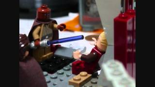 getlinkyoutube.com-LEGO star wars palpatine's arrest Mace windu vs Palpatine