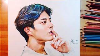 getlinkyoutube.com-박보검 색연필 팬아트 그리기 Drawing Park Bo-gum 朴寶劍 | drawholic