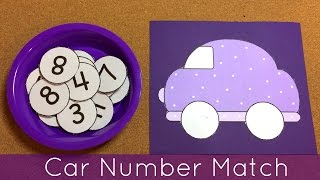 getlinkyoutube.com-Car Number Match Preschool Learning Activity