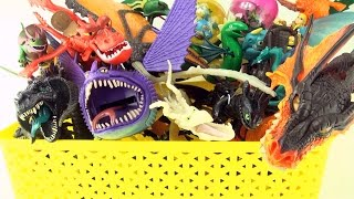 getlinkyoutube.com-Box of Dragons collection - Dragon toy box collection - How to Train Your Dragon toys
