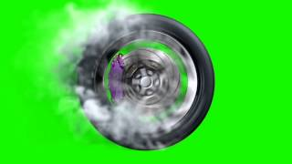 getlinkyoutube.com-Green Screen Fast Wheel Tire Speed Smoke - Footage PixelBoom CG