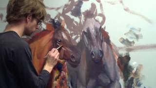 Still Painting Horses & Mural Joe