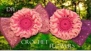 getlinkyoutube.com-DIY flores para el cabello - How to make crochet flowers, ribbons and headbands