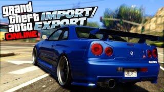 getlinkyoutube.com-GTA 5 Nissan Skyline R34 GTR LEAKED Import and Export DLC