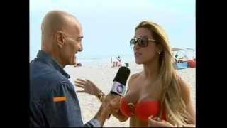 """Dani Vieira entrevistada no quadro """"Aventuras de Amin Khader"""" do Programa """"Tudo É Possível"""""""