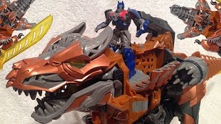 getlinkyoutube.com-New Grimlock Chomp and Stomp One Step Changer - Transformers 4 Age of Extinction - Unbox and Review