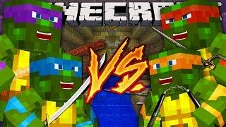 getlinkyoutube.com-Minecraft Super-Hero Royle Rumble : TEENAGE MUTANT NINJA TURTLES