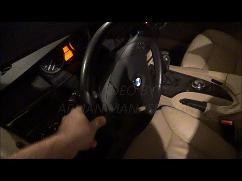 BMW E60   5 SERIES   ЗВУК ОТ КРЕСТОВИНЫ РУЛЯ  СЛАБОЕ  МЕСТО