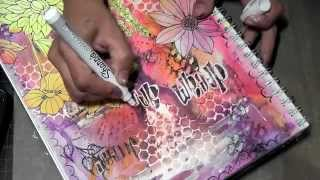 Friday Art Journal Mixed Media Tutorial - Aug 24th