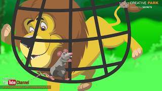 Mouse & Lion   [Sher Aur Chuha] [Cartoon Stories] & Rhymes For Kids In Hindi and Urdu