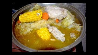 getlinkyoutube.com-Sopa de pollo con muchos vegetales