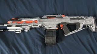 getlinkyoutube.com-[MOD] Halo Saw Nerf Replica with LEDs