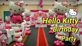 getlinkyoutube.com-Hello Kitty Theme Decorations - Specialized for Balloon & Birthday Decorations