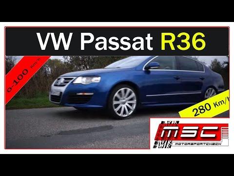VW Passat R36 FSI DSG 0-100 Topspeed 280Km/h sound acceleration lauch control