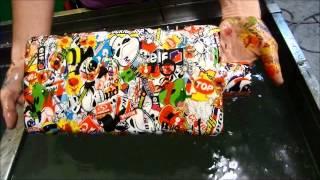 getlinkyoutube.com-Water Transfer Printing ou Impressão hidrográfica  Sticker Bomb