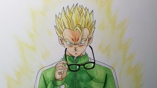 getlinkyoutube.com-Drawing Gohan Super Saiyan - Resurrection F'