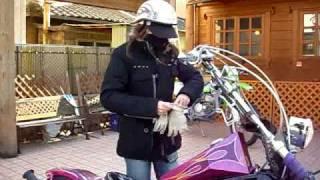 getlinkyoutube.com-美人 美女ライダー YZF-R1 Steed 400 HONDA ホンダ スティード 400