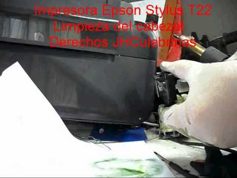 Epson Stylus T22 Limpieza de cabezal 02 YouTube