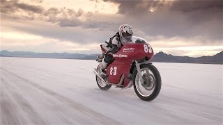 getlinkyoutube.com-Royal Enfield Continental GT, Matt Capri at the Bonneville Salt Flats, official