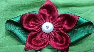 getlinkyoutube.com-Flor de tecido | Passo a Passo - DIY