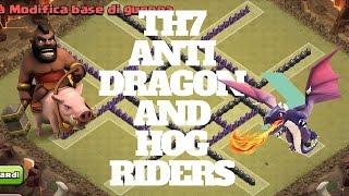 getlinkyoutube.com-Clash of Clans - Th7 War Base [Anti dragons and hog riders] by Guio 28