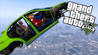 getlinkyoutube.com-GTA 5 Fun - Flying Car Glitch, Stupid Cop, Tank Mugger (Grand Theft Auto V Funny Moments)