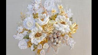 getlinkyoutube.com-My works  , 2015. Silk ribbon embroidery