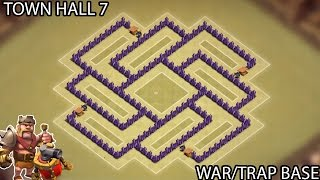 getlinkyoutube.com-Clash of Clans - Town Hall 7 (TH7) War Base (Trap Base) with Air Sweeper
