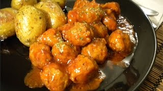 getlinkyoutube.com-Mini Meatballs In Spicy Tomato Sauce