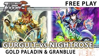 getlinkyoutube.com-Gurguit Gold Paladin VS Nightrose Granblue - Cardfight!! Vanguard